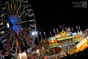 Midway at Night by brandimillerart
