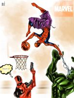 Marvel Basketball by TheRisingSoul