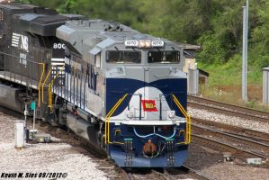 NS 1070 Wabash heritage leads NS 111 Madison IL by EternalFlame1891