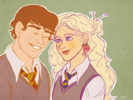 Luna and Neville by ggns