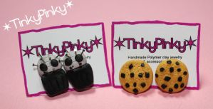 cookies and pinheads studs by tinkypinky