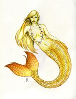 Yellow Mermaid by MyWorld1