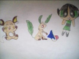 buttercup and pokemons by nike1221