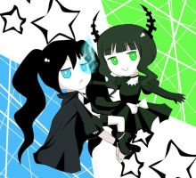 Black Rock Shooter chibi by keterok