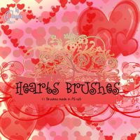 Hearts Brushes by Coby17