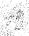 Arale - Gacchan - Countryside BN by AliceSacco