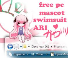 SWIMSUIT ARI pc mascot by B0RN-T0-DIE