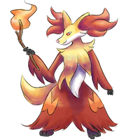 #655 - Delphox by TheArtisticPony