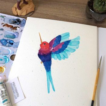 Splash-hummingbird by paulinabemu