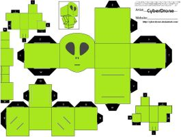 Cubee - Little Green Man by CyberDrone