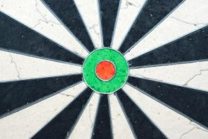 Dart board background by Quinnphotostock