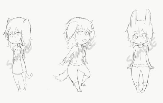 Adoptable Types Examples (NOT FOR SALE) by Fujo-tan