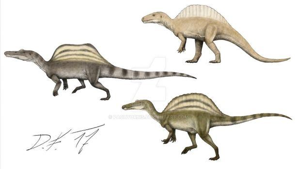 Now and then: Spinosaurus by Pachyornis