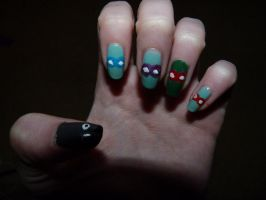 TMNT Nails by singingpterodactyl