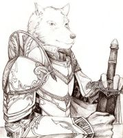 Wolf Knight Portrait by Nasuradin