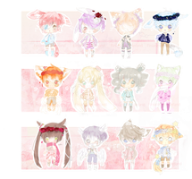 Adoptable Set: (6/12 Open) by FinianInWonderland