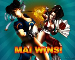 Mai vs. Chun Li by Sgrum