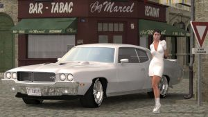 White Buick by Lynxander