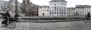 gent old city panaroma by omerfarukciftci