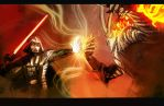 Duel Of The Fates by hungerartist