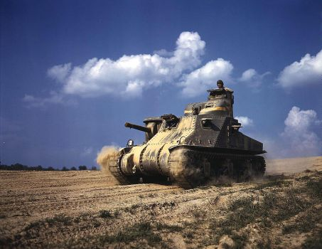 M-3 tanks in action, Ft. Knox, by makepictures
