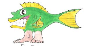 Froley the Fish with Feet 1 by MidnightMadwoman