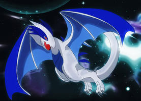 Lugia draconic form by Elsdrake