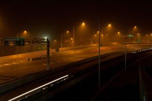 Ipswich Motorway in a Dust Storm by ShannonIWalters