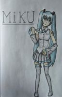 Miku Hatsune coloured by Hinyness