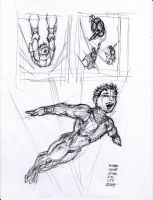 The Flying Graysons pen sketch by myconius