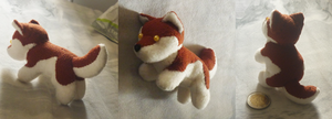Extra tiny brown husky plush by goiku