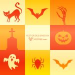Halloween Element Set Free Vector by vecree