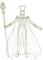 Loki Request--Lineart by GiRBeRRy