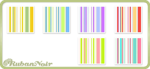Pastel Bright Stripes Pattern by Lady-Himiko