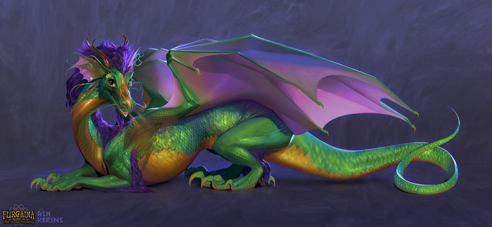 The Furcadia Dragon by AshKerins
