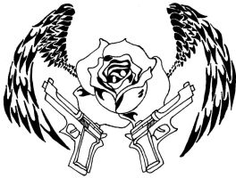 Guns and Roses by 44-magnum-vampire