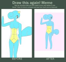 Before and After: Squirtle Anthro by XDTheServine