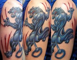 panther tattoo by michaelbrito