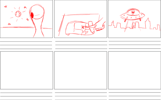 Alien invasion storyboard by denahzi