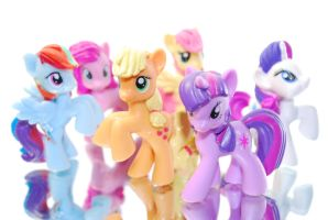 Mane 6 Figures by Ramsey06