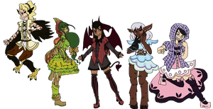 Magical Monster Girls~ by SpellboundBunny