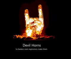 Demote: Devil Horns by SK100