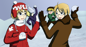 Snowball Fight by kt-chan