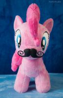 Mustache front by PheiPlushies