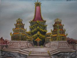 Avatar: Fire Nation Royal Palace by lolbenjo