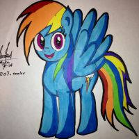 Just Rainbow dash by Mr-skylineR34