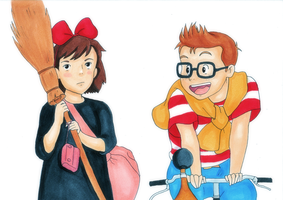 Kiki and Tombo by laura-kristen