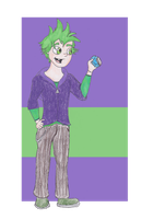 MLP FiM Humans: Spike by TheGirlOnXboxLive