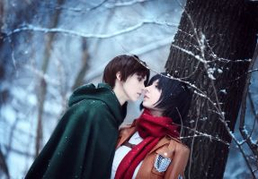 Mikasa and Eren by Millenia666