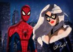 Spidey and the Black Cat by DESPOP